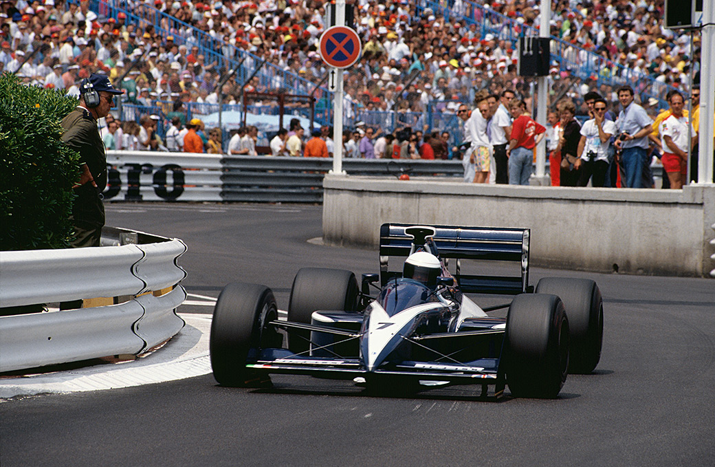 David Brabham at Monaco 1990 in the BT59